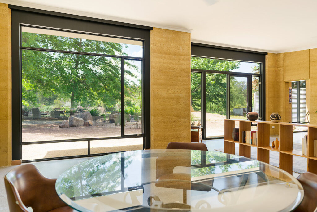 internal-rammed-earth-dining-room